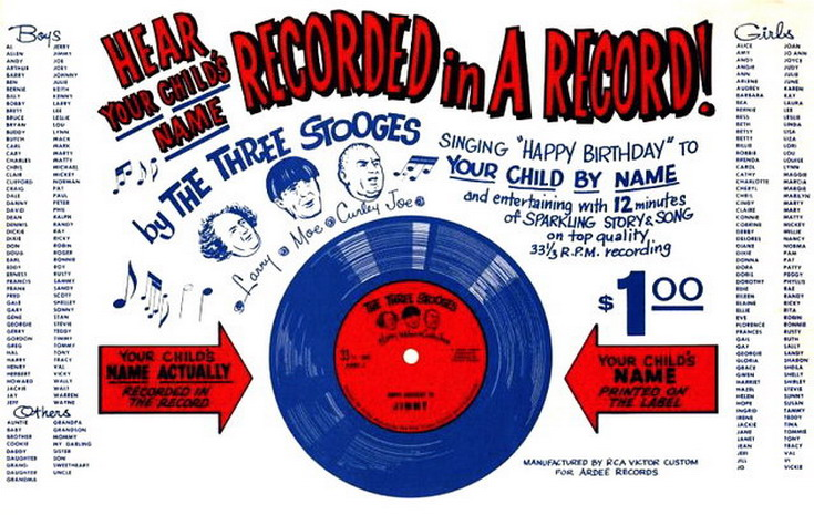 The Three Stooges Happy Birthday To Connie 1961 Vinyl Discogs
